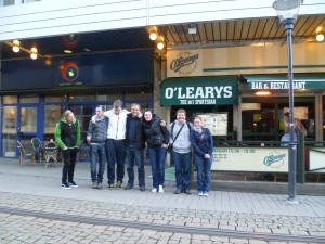 Johnny, Štěpa, Alex, Miro, Alča, Radek a já