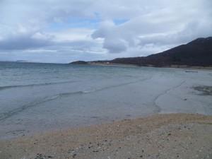 Pláž v Harstadu - pondělí