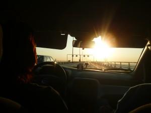 Alča řídila přes hraniční most!